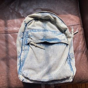 Distressed Demin Backpack
